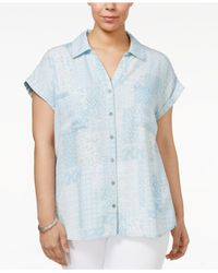 Style & Co. | Blue Plus Size Short-sleeve Denim Shirt | Lyst