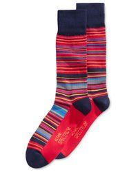 Alfani - Red Men's Variegated Stripe Socks for Men - Lyst