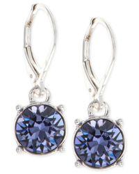 Anne Klein   Purple Swarovski Crystal Drop Earrings   Lyst