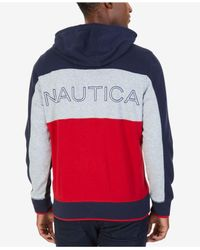 Nautica - Blue Big & Tall Colorblocked Hoodie for Men - Lyst