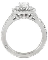Marchesa | Metallic Certified Diamond Square Frame Ring (1-1/4 Ct. T.w.) In 18k White Gold | Lyst