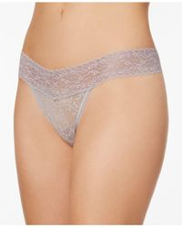 Calvin Klein - Purple Bare Lace Thong Qd3596 - Lyst