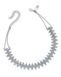 INC International Concepts - Metallic Silver-tone Cubic Zirconia Choker Necklace - Lyst