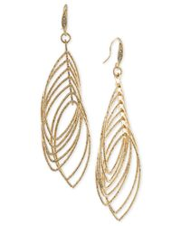 ABS By Allen Schwartz | Metallic Multi Ring Gypsy Drop Earrings | Lyst