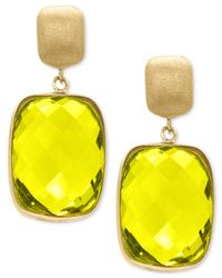 Effy Collection | Yellow Lemon Quartz Drop Earrings (20-1/2 Ct. T.w.) In 14k Gold | Lyst