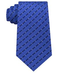 Michael Kors | Blue Men's Metropolis Grid Tie for Men | Lyst