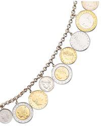 Macy's | Metallic Vermeil Bracelet, Lira Coins Charm Bracelet | Lyst
