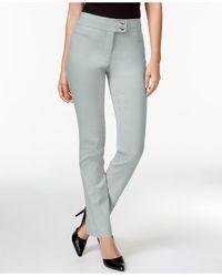 Style & Co. | Metallic Tummy-control Slim-leg Pants, Only At Macy's | Lyst