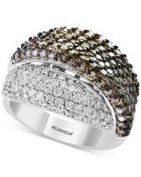 Effy Collection - Metallic Diamond Overlap Statement Ring (2-7/8 Ct. T.w.) In 18k White Gold - Lyst
