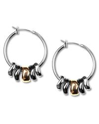 "Nine West - Metallic Earrings, Tri-tone Shaky 1"" Hoop Earrings - Lyst"