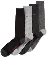 Calvin Klein | Gray Men's Heel Toe Socks 4-pack for Men | Lyst