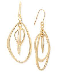 Kenneth Cole - Metallic Gold-tone Orbital Drop Earrings - Lyst