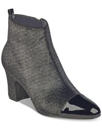 Ivanka Trump Metallic Womens Lundy 3 Closed Toe Ankle Fashion Boots