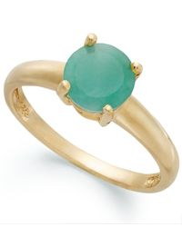 Macy's - Metallic 18k Gold Over Sterling Silver Ring, Emerald May Birthstone Ring (1-1/2 Ct. T.w.) - Lyst