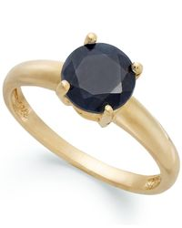 Macy's - Metallic 18k Gold Over Sterling Silver Ring, Midnight Sapphire September Birthstone Ring (1-5/8 Ct. T.w.) - Lyst