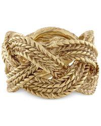 RACHEL Rachel Roy - Metallic Gold-tone Rope Band Ring - Lyst