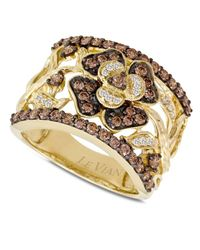 Le Vian | Brown Diamond Flower Ring (1 Ct. T.w.) In 14k Gold | Lyst