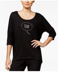 Hue - Black Graphic-print Pajama T-shirt - Lyst