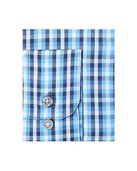 Alfani - Blue Men's Classic/regular Fit Performance Stretch Small Pixel Print Shirt, Created For Macy's for Men - Lyst