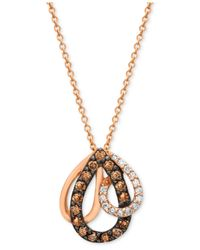Le Vian | Brown Chocolate Diamond (1/3 Ct. T.w.) Pendant In 14k Rose Gold | Lyst