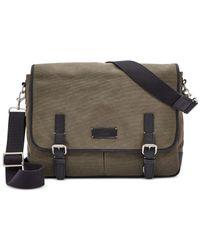 Fossil - Green Graham Messenger Bag for Men - Lyst