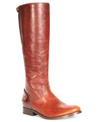 Frye | Brown Melissa Button Back Zip Boots | Lyst