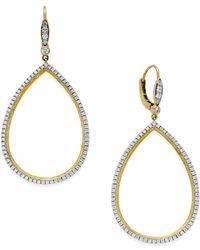 Macy's - Metallic Diamond Openwork Drop Earrings (7/8 Ct. T.w.) In 14k Gold - Lyst