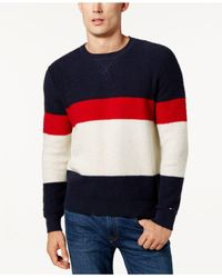 Tommy Hilfiger - Blue Men's Colorblocked Sweater for Men - Lyst