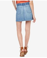 Sanctuary - Blue Karate Cotton Denim Skirt - Lyst