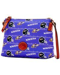 Dooney & Bourke - Black Baltimore Ravens Nylon Crossbody Pouchette - Lyst