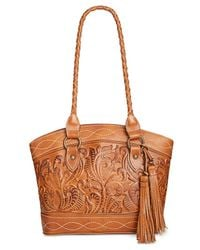 Patricia Nash | Metallic Burnished Tooled Zorita Satchel | Lyst