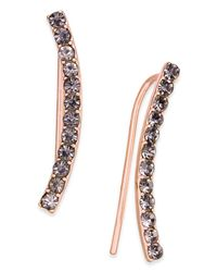 INC International Concepts - Metallic Rose Gold-tone Hematite Pavé Ear Crawler Earrings - Lyst