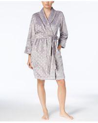 Charter Club - Gray Metallic-print Robe, Created For Macy's - Lyst