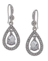 Carolee - Metallic Earrings, Crystal Teardrop - Lyst