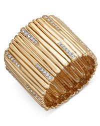 INC International Concepts - Metallic Pavé Stick Stretch Bracelet - Lyst