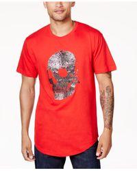 Sean John - Red Men's Beaded Skull T-shirt for Men - Lyst