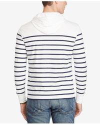 Polo Ralph Lauren White Men's Striped Pima Cotton Jersey Hoodie for men