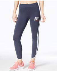 Nike - Blue Sportswear Archive Leggings - Lyst