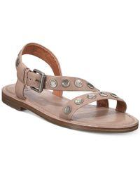 Frye - Gray Morgan Flat Sandals - Lyst