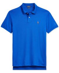 Polo Ralph Lauren - Blue Core Pima Soft-touch Polo for Men - Lyst