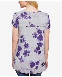 Jessica Simpson - Purple Pull-over Nursing T-shirt - Lyst