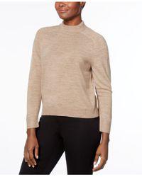 Karen Scott Multicolor Petite Luxsoft Mock-neck Sweater, Created For Macy's