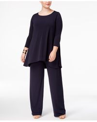 Alfani | Blue Plus Size Swing Top, Only At Macy's | Lyst