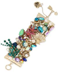 Betsey Johnson - Metallic Gold-tone Multi-stone Sea Motif Bracelet - Lyst