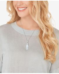 Swarovski - Metallic Silver-tone Faceted Crystal Pendant Necklace - Lyst