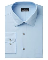 Alfani - Blue Men's Classic/regular Fit Performance Stretch Easy-care Solid Dress Shirt for Men - Lyst
