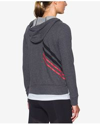 Under Armour - Gray Relaxed French Terry Hoodie - Lyst