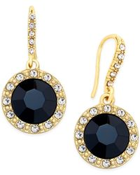 INC International Concepts - Round Blue Stone Drop Earrings - Lyst