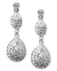 Givenchy - White Earrings, Crystal Linear Teardrop - Lyst