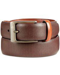 Original Penguin - Brown Men's Sun Tanned Leather Belt for Men - Lyst